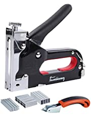 FlowersBlooming Upholstery Staple Gun with Remover,Heavy Duty Staple Gun with 3000 Staples, Manual Staple Gun Kit with 3 in 1 for Wood,Upholstery,Decoration,Carpentry,Furniture,Windows,Door,DIY