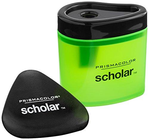 (Prismacolor Scholar Pencil Sharpener and Latex-Free Eraser Bundle, 2 Count)