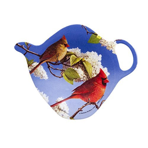 Ashdene Cardinals Tea Bag Holder 3 Inches 2.9 by 3-3/4-Inch Melamine ()