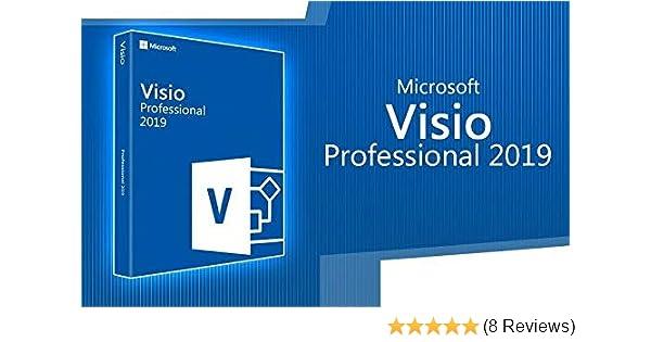 Visio Professional 2019 32/64 Bit Download Genuine License Code 1PC
