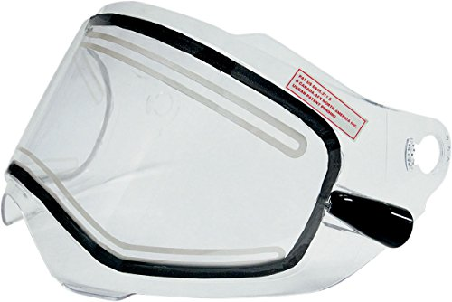 AFX AMPD Electric Dual-Lens Shield with Cords for FX-39 Dual Sport Helmet - Clear 0130-0460 by AFX