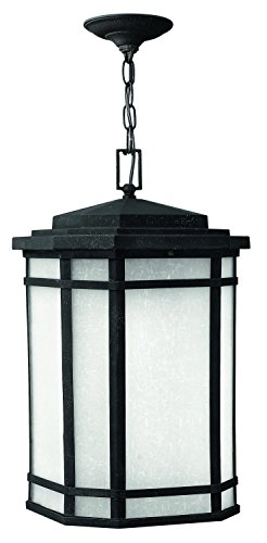 - Hinkley 1272VK Craftsman/Mission One Light Hanging Lantern from Cherry Creek collection in Blackfinish,