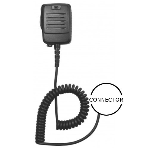 Heavy Duty Lapel IP55 Speaker Mic with 3.5mm Jack for Nextel i365 Cellular Phone ()
