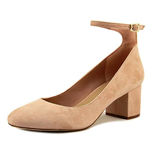 ALDO Womens Clarisse Suede Closed Toe Ankle Strap Classic Pumps Light Pink