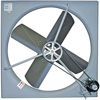 Tpi ce42b3 commercial belt drive exhaust fan with shutter Commercial exhaust fan motor