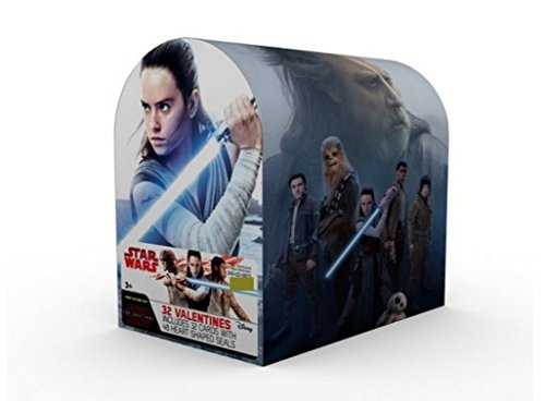 (Kids Valentines Classroom Exchange Cards (Star Wars Ep. 8 Mailbox with 32 Cards and)