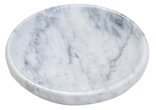 - CraftsOfEgypt White Marble Soap Dish - Polished and Shiny Marble Dish Holder - Beautifully Crafted Bathroom Accessory