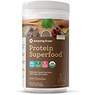 Amazing Grass Protein Superfood: Vegan Protein Powder, All-in-One Nutrition Shake, Rich Chocolate Butter, 18 Servings