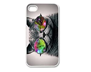 Iphone 4 Case, Thin Flexible Plastic Case Iphone 4 Case Cool Cat