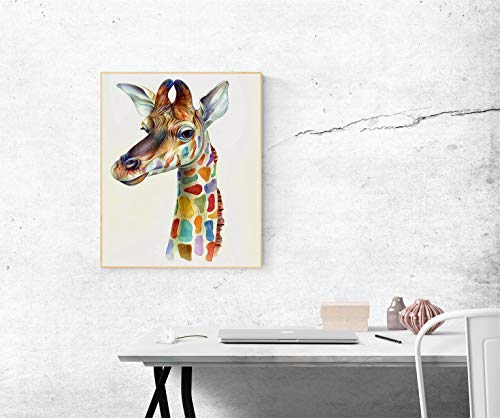 Giraffe Paint By numbers for Adults DIY Oil Painting Kits for Kids Teen Student Beginner On Canvas PaintingFamily Indoor Home Decor Wall Arts Crafts Colorful Giraffe Painting 16x20inch 4 Paintbrushes