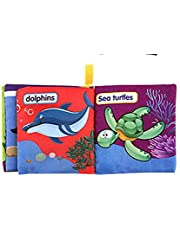 educational Baby Toy Fabric Non-Toxic Tearproof Cloth Book for 0-3 Years Old Baby - The Undersea World Learning