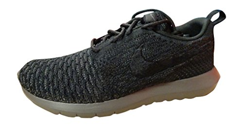 NIKE Flyknit Rosherun Mens Running Trainers 677243 Sneakers Shoes (US 6, Black Midnight Fog 001)