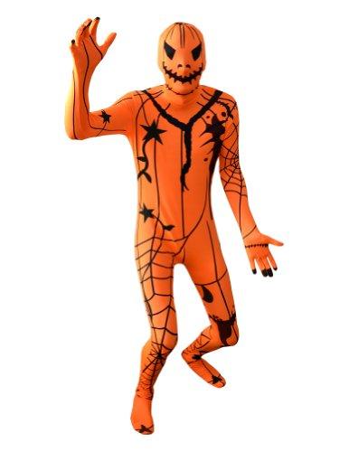 AltSkin Unisex Full Body Spandex/Lycra Suit, Pumpkin, XX-Small