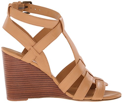 Sandal Farfalla Women Nine West Leather Wedge Natural Light XaAZTnf