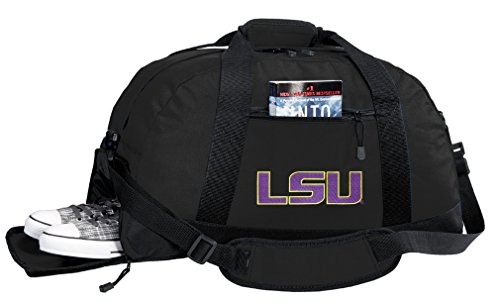 Broad Bay NCAA LSU Duffel Bag - LSU Tigers Gym Bags w/Shoe Pocket