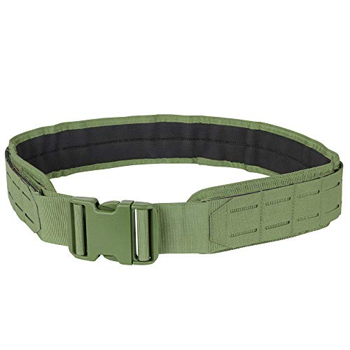 Condor Outdoor LCS Gun Belt - Tactical Heavy Duty Nylon with Laser Cut MOLLE Webbing, 121174 (Coyote Brown, Small) (Best Cobra Gun Belt)