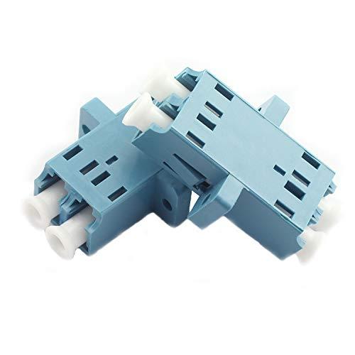 Duplex Coupler - Maxmoral 2-Pack LC-LC Optical Fiber Coupler Duplex Singlemode Multimode Flange Coupling Connector Adapter for Digital Communication