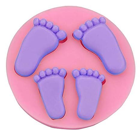 Amazon.com: gofrado de silicona del moho pies de bebé ...