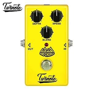 Twinote BBD Chorus Stompbox - Pedal de efectos de guitarra eléctrica (bajo ruido)
