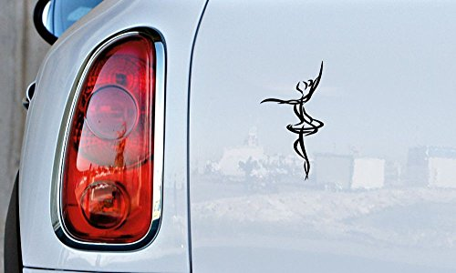 Ballerina Sketch Outline Version 3 Car Vinyl Sticker Decal Bumper Sticker for Auto Cars Trucks Windshield Custom Walls Windows Ipad Macbook Laptop and More (Halloween 3 Gif)