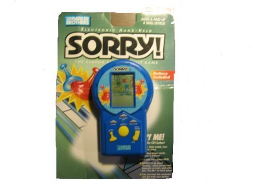 Parker Brothers SORRY Electronic Handheld Game (1996 Edition) [Toy]