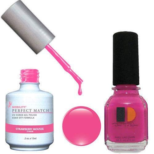 Perfect Mousse - LECHAT Perfect Match Nail Polish, Strawberry Mousse, 0.500 Ounce