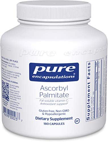 Pure Encapsulations - Ascorbyl Palmitate - Hypoallergenic Fat-Soluble Vitamin C Supplement - 180 Capsules
