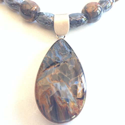 blue-pietersite-barrell-rice-necklace-w-sterling-silver-3in-ext-blue-earth-jewelry-by-pc-goddess