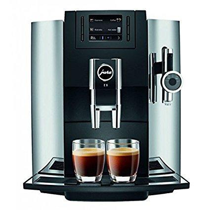 Jura 15097 Automatic Coffee Machine E8, Chrome by Jura