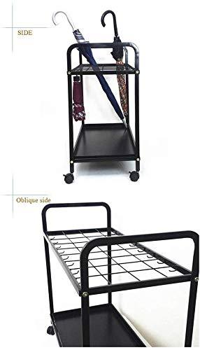 portaoggetti per portaoggetti per ombrelloni da Ingresso negli Hotel di ristoranti di Hotel LNDDP Portaombrelli Oversize a 36 Fessure con 16 Ganci e Ruota Colore: Nero Nero
