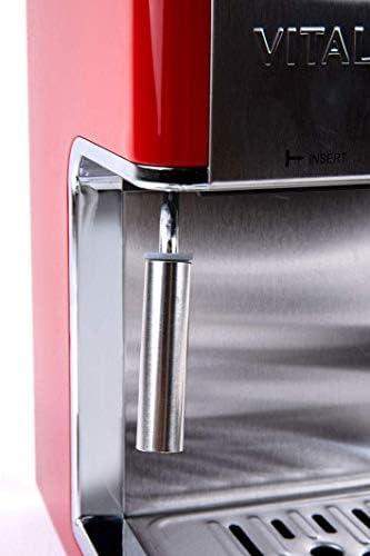 Cafetera Italiana Espresso de 4 Tazas con emulsionador de leche, Vital Espresso: Amazon.es: Hogar