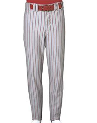 Russell Athletic Men's Performance Engineered Pinstripe Game Pant,White/True Red,Large