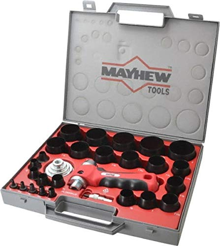 Mayhew - 28 Piece Hollow Punch Set - 1/8 to 2