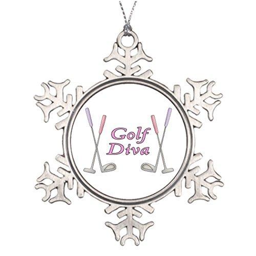 Christmas Snowflake Ornaments Ideas For Decorating Christmas Trees Golf Diva Monogram Snowflake Ornaments Lady (Chrome Lady Hood Ornament compare prices)
