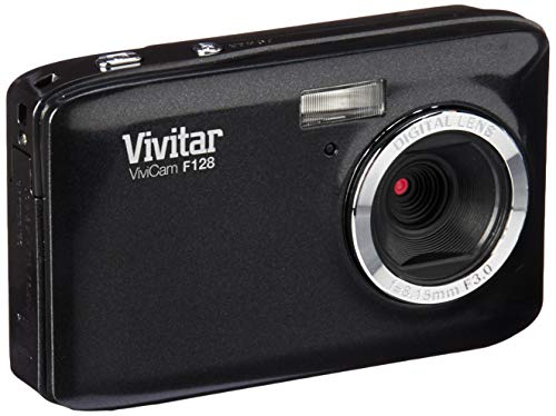 Vivitar VF128-BLK 14.1MP Digital Camera with 2.7-Inch TFT LCD, Colors May Vary (Vivitar Digital Photo Frame)