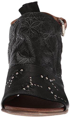 Miz Mooz Women's Carey Heeled Sandal, Black, Medium Black