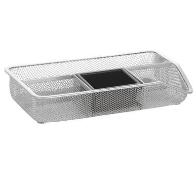 (OfficeMax Mesh Drawer Organizer, Silver by)