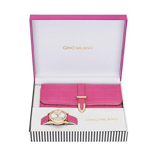 Women's Matching Watch & Wallet Gift Set - Pink by Gino Milano (Image #1)