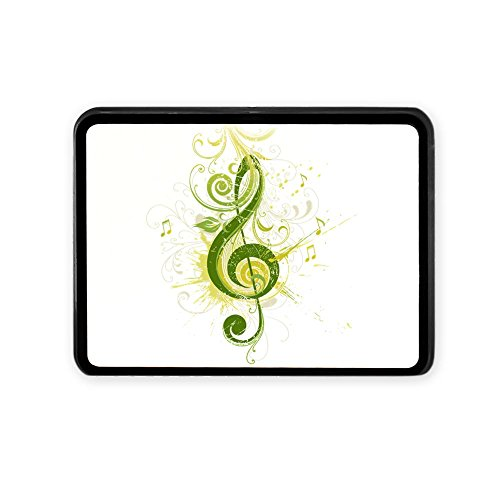 Rectangular Hitch Cover Musician Green Treble Clef