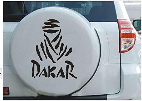 Nusey (TM) coche-styling 11 * 11cm Dakar pegatinas de coches de Opel Renault lada Off Road DAKAR coche-cubre la cinta reflectante para VW Ford Mazda Peugeot: Amazon.es: Coche y moto