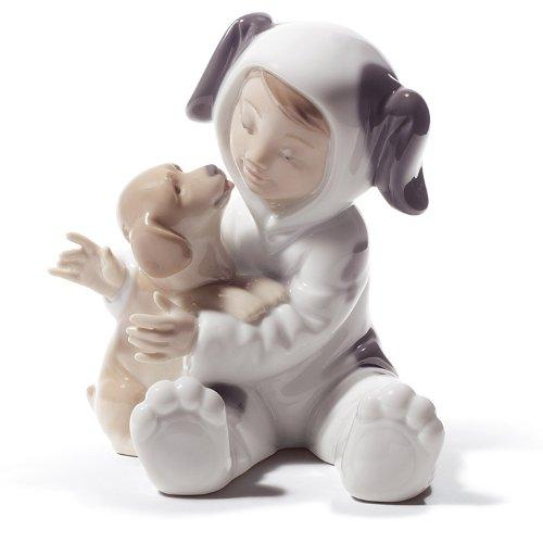 Porcelain Puppy (Lladro Porcelain Figurine My Playful Puppy)