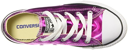 Kids' All Metallic Taylor Ox Chuck Sneaker Star Converse Magenta Core wOagg