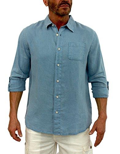 Short Fin Sleeve Linen Shirt