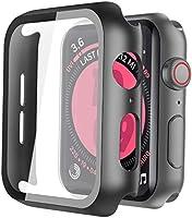 Misxi Schwarz Hard Apple Watch Series 6 / SE/Serie 5 / Series 4 Hülle Mit Panzerglas Displayschutz 44mm, 360° Rundum...
