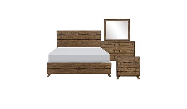 Amazon Com Hefx Kenmare Bedroom Set In Teak In Teak Wood Finish