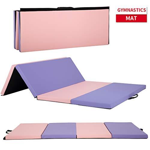 Gymnastics Mats Tumbling Mats for Gymnastics 6x4x2 Exercise Mat 6 FT Gymnastics Mats for Home Exercise Pad 4 Folding Lightweight Home Gymnastics Panel Mat for Home Gym Mat Yoga Mat