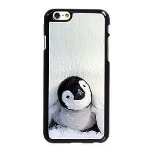 Caso lindo del pingüino 5,5 pufunda LGadas M5A78X8FE funda iPhone 6 6S Plus funda 0767L2 negro