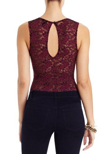 2B By Bebe Women's Lace Bustier Bodysuit