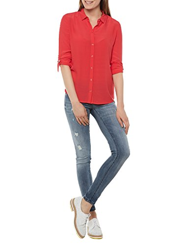 W72h64w8ch0 Guess Rot Lunghe Camicia Maniche Jeans Donna 5RwrqRFY