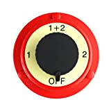 Salt Reef Marine Hardware - Marine Battery Switch for 12v Boats RV's & Cars - Quick Disconnect Switch Selector for Dual Battery Operation